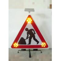 Wholesale Foldable Traffic Warning Signs Portable Solar Flashing LED Lights from china suppliers