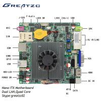 Wholesale Dual LAN Nano ITX Motherboard Quad Core Celeron J1900 Processor With LVDS from china suppliers