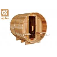 Quality Red Cedar 4 - 5 Person Western Red Cedar Barrel Sauna , outdoor sauna cabins for sale