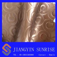 Wholesale Metal Colour Furniture Upholstery Leather Fabric Decorative Wallpaper from china suppliers