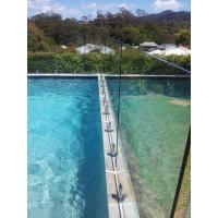 Quality 10mm Swiming Pool Fencing Glass Heat Soaked Thermal stability for sale