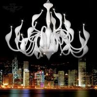 Wholesale Art Deco European Candle Crystal LED Swan Chandeliers Ceiling Bedroom Living Room Modern Decoration G4 24 Lighting Free from china suppliers