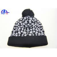 Wholesale Black And White Adult Knitted Beanie Hats from china suppliers