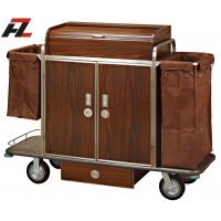 Wholesale Hotel Metal Guest Room Service Trolley with Drawer-Housekeeping Cleaning Trolley from china suppliers