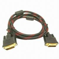 Wholesale 24+1/24+5 DVI Cable with Gold-/Nickel-plated Surface Finish from china suppliers