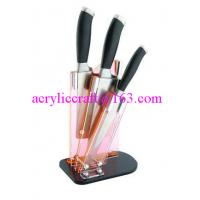 Wholesale Clear acrylic knife display stand / plastic knife holder / acrylic knife rack from china suppliers