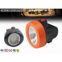 Quality 6000 Lux Cordless Led Mining Cap Lamp , IP68 0.69W Hard Hat Headlamp for sale