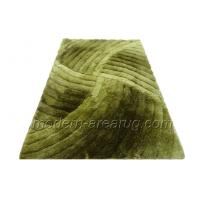 Wholesale Green Contemporary Polyester Shaggy Rug, Romantic 3d Shaggy Rug For Bedside Area from china suppliers