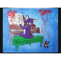 Wholesale Lovely Cartoon Wall Art Decorative Paint Handmade Oil Painting for Apartment ETH121 from china suppliers