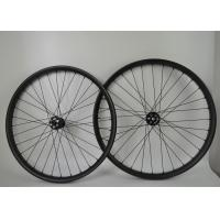 Wholesale Hookless Rim Type 29 Inch Mountain Bike Wheels , Lightweight Carbon Wheels 28mm Depth from china suppliers