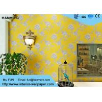 Wholesale Modern Yellow Color Non Woven Wallpaper Washable For Livingroom , Size Customized from china suppliers