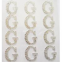 Wholesale Glitter sticker self adhesive rhinestone letter sticker word sticker from china suppliers