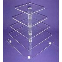 Wholesale Eco-Friendly 5-Tier Acrylic Bakery Display Case For Cupcake , Cookie from china suppliers
