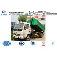Wholesale hot sale lower price dongfeng 5m3 roll-on and roll-off garbage truck, Factory sale dongfeng skid loader garbage truck from china suppliers