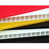 Quality Black / Pink / Yellow PP Hollow Sheet Coroplast Board With Grease Proof for sale