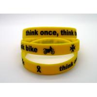 Wholesale Ink Filled Promotional Printed Silicone Wristbands With Debossed Logo , CE Specification from china suppliers