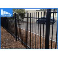 Wholesale Welded Spear Top Steel Panel Fence Decorative Powder Coated Surface from china suppliers