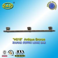 Wholesale Ref H019  Zinc Alloy Metal Coffin Handles zamak Casket long bar 1 meter 3 base from china suppliers