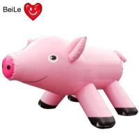Quality Advertising 210D oxford material gaint inflatable pink pig for sale