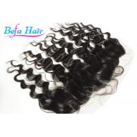 Wholesale European / Malaysian Brown / Black Deep Wave Human Hair Closure For Ladies from china suppliers