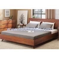 Quality Natural Steady Queen Size Solid Wood Frame Bed With Backrest Stylish Bedroom Furniture Sets for sale