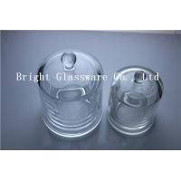 Quality high quality glass candle container with glass cover for sale
