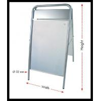 Wholesale a - frame Metal display double side stand poster for exhibition & commercial fair from china suppliers