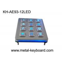 Wholesale Illuminated 3 X 4 Layout 12 Key Metal Numeric Keypad Stainless Steel For Access Control from china suppliers