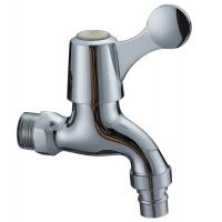 Wholesale Contemporary Water Saving Single Cold Water Taps Chrome Plated Faucet , Wall Mounted from china suppliers