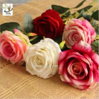 Wholesale UVG FRS68 Planning a wedding in beautiful velvet rose artificial flower arrangements for table decoration from china suppliers