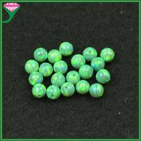 Wholesale OP11 opal dealers wholesale kiwi green opal jewellery lab created 4mm round beads opal from china suppliers