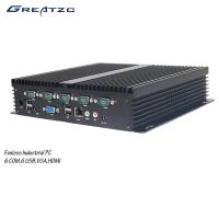 Wholesale 6 COM Fanless Industrial Computer With 6 USB 2.0 6 / Fanless Embedded PC from china suppliers