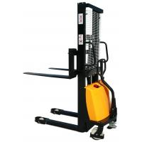 Wholesale Electric forklift truck semi electric pallet stackers with yellow color from china suppliers