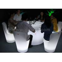 Wholesale RGB LED Plastic Bar Chairs , Waterproof Fashionable Banquet Chair from china suppliers