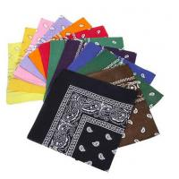 Wholesale 12pc Multicolor Cotton Fabric Extra Large 21 Inch Square Bandannas from china suppliers