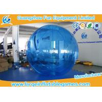 Buy cheap Blue 0.7mm TPU Floating Water Ball Walk On Water Balls , Human Water Walking Ball from wholesalers