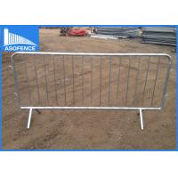 Wholesale Metal Temporary Traffic Barriers , Pedestrian Barrier Hire For Concert from china suppliers