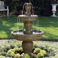 Buy cheap Natural Marble Garden Stone 3 Tiers Water Fountain from wholesalers