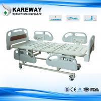 Wholesale 4 Inches Castors Hospital Patient Bed Three Functions With ABS Plastic Mattress from china suppliers