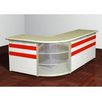Wholesale L - Shaped Front Desk Retail Checkout Counter Middle Size For Shopping Mall from china suppliers