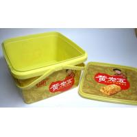 Quality Biskuit Disposable Salad Bowls PP Plastic Square Box With IML Label Printing Logo for sale