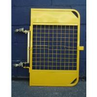 Yellow Powder Coated Scaffold Ladder Access Gates Adjustable For Mezzanines