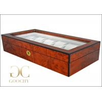 Wholesale 12 Audemars Piguet Wooden Watch Display Case / Grey Interiors / Gold Lock Hinges from china suppliers