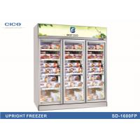 Wholesale Three Glass Door Upright Display Cooler For Ice Cream OEM Service from china suppliers