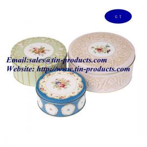Wholesale Promotional Round Gift Tin Box Set, Round Tin Box Set, Gift Tin Box Set from china suppliers