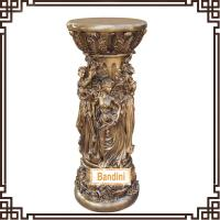 Buy cheap craft pillar Roman Figure Pillars Lady Pedestal Classical Roman Pillar Design 865BK from wholesalers