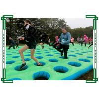 Wholesale Outside Inflatable Sport Games PVC Tarpaulin Large Inflatable Mattress Run With Hole from china suppliers