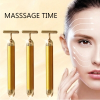 Wholesale DC 1.5V 4 In 1 T Type Vibration 24K Gold Face Massager from china suppliers