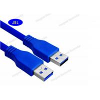 Wholesale Round 5Gbps 1.5m 3.0 USB Cable Blue / White Color PVC jacket Customized Logo from china suppliers