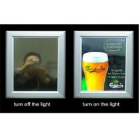 Wholesale Black / Sliver Frameless Advertising LED Magic Mirror Light Box , Long Service Life from china suppliers